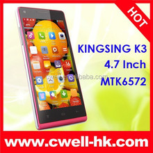 Wholsale Kingsing K3 4.7inch 3G Cheap Original Cell Phones 4.7inch Android Smart Phone