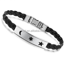 Hot sales weave leather bracelet