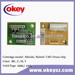 Compatible for Konica Minolta C451 printer toner chip C550/650/451
