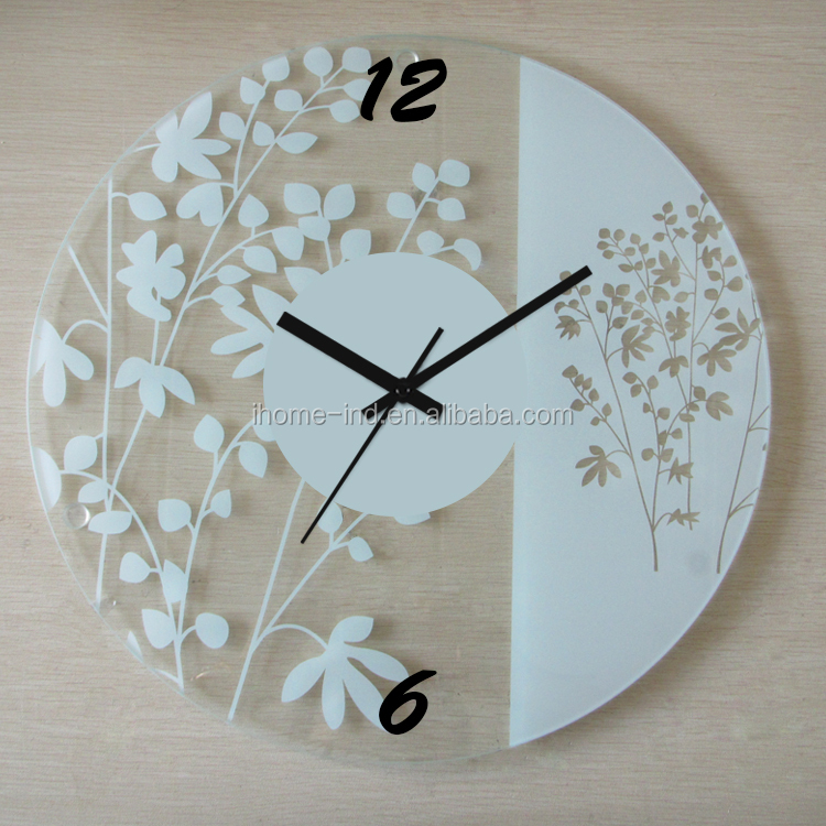 New Modern Design Glass Wall Clock Decorative Wall Clocks Heart