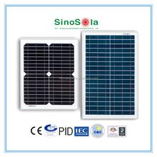 10 watt solar panel made of high efficiency crystalline silicon cells
