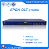 4 pon ports olt optical line terminal equipment with 40KM PX20++ SFP modules,