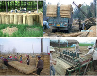 agriculture machinery corn straw mat making machine/mattress knitting machine