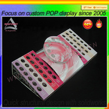 Small acrylic desktop customized lip gloss display table for pop/pos