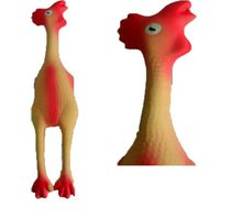 Latex chicken pet toys with squeaker