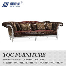 Y1269-3 hot sale eruo style royal big arm fabric sectional sofa