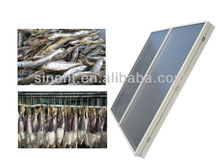 Seafood drying machin solar air heating collector