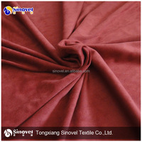 weft knitting micro suede for garment/Elastic suede fabric