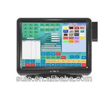 15inch All in one Touchscreen Pos Monitor with MSR for Pos Cash Register