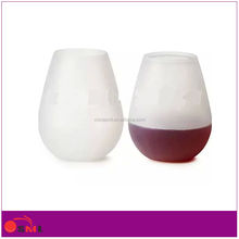 Hot Selling Soft Silicone Material Red Wine Glass goblet wine Glass Cup
