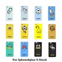 brand Stars favorite Cartoon Cartoon animal Shark lion rabbit squirrel monkey Scrub pc case For iphone 6 6s 4.7 6s plus 5.5inch