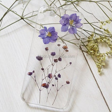 Dry pressed flower cover case natural real flower cell phone case for iphone 6 plus