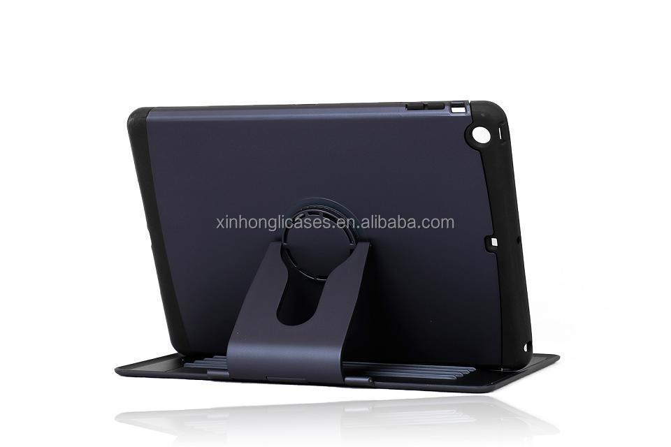 New design 360 degree rotate e-book robot smart case for ipad mini