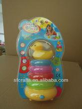 Cute plastic duck rainbow toss game toys