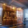 2015 restaurant decor LOGO desingned RGB fiber optic waterfall light curtain