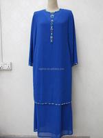Muslim Women Dress Beading Chiffon Baju Kebaya Arabian Robe Islamic Pakistan Women Direct Factory Abaya