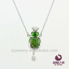 new features to matter chinese 2014 glass bottle Vial pendant Necklace with metal handicraft