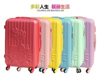 Cute KT ABS Hard Shell stripe Wheeled Trolley Suitcase 811A