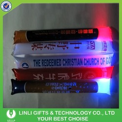 Custom Advertising Led Flashing Stick cheering,Inflatable Cheering Sticks,Led Glow Stick For Party