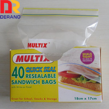 food grade printed zipper package for sandwich