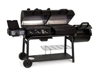 Cast Iron Combo Grill with Gas Charcoal No Smoke BBQ Grills And Smoker