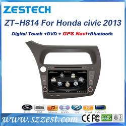ZESTECH double din car dvd player for honda civic 2013 car radio with GPS, DVD, USB, SD, FM/AM Exporter