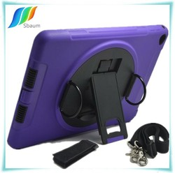 For ipad air Case With Shoulder Belt Strap Stand Retina Screen Film 360 Rotation