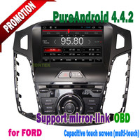 8 inch Capacitive screen 3g/wifi mirror-link +hotspot+radio/mp3/gps for android 4.4.2 car dvd ford focus 2012 2013