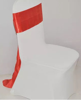 orange chair cover sashes,wedding lace sash for chairs wedding chair cover at factory price