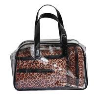 Wholesale classical promotional Korea Fashion tote bag gift set pvc cosmetic bags