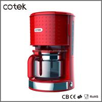 Coffee machine/10-12cup dots desigh electric drip coffee maker with CE, CB, GS, ROHS, EMC, LFGB