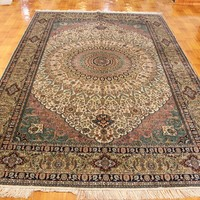 6x9ft nice 100 %Silk Hand Knotted turkish style rugs china factory Oriental Rug Restoration