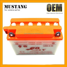 High Performance Lead Acid Motorcycle Battery 12V 3Ah For 12N 6.5-3A