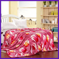 new style 100% polyester flannel pattern blanket supplier for wholesale