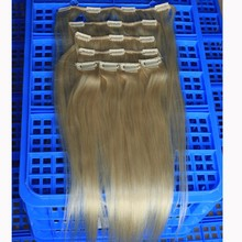 Sunny Queen hair 2015 Best Grade silky straight Brazilian hair 10pcs set stock full head set clip in hair extensions for Child