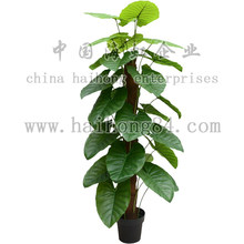 artificial natural touch taro plants with big leaves manufactory