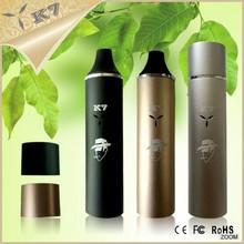 2015 New Health & medical product protable e-cig pen dry herb pen vaporizer K7 huge vapor e-cigarette pen