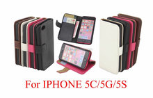Crazy Horse PU Leather Case Cover Pouch for Apple iphone 5C,inner standing
