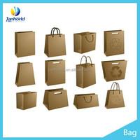 Factory price custom made paper handle Recycled kraft Brown Paper Bag