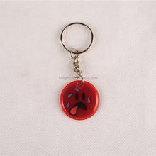 Wholesale dog reflective keychain/ souvenir costom keychain / pvc key chain for kids