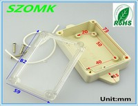 """115x59x33mm 4.53""""x2.32""""x1.30"""" ip65 waterproof plastic enclosure for electronic"""