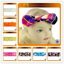 Infant baby cotton stripe dot knot headband Baby purple Hairband Colorful Children Headband