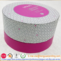Paper tube round candle box for gfit packaging with customize printing
