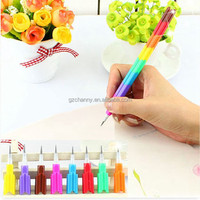 2Pcs/lot Colorful Stacker Swap 8 Color Section Building Block Non-Sharpening Pencil multifunction Bullet pencil For Kids
