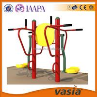 Amusement park steel outdoor fitness equipment for old people