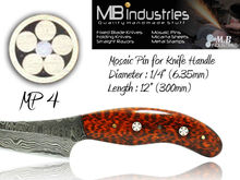 """Mosaic Pins for Knife Handles MP4 (1/4"""") 6.35mm"""