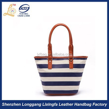 The latest design stripes ladies Shoulder Bag Beach Bag