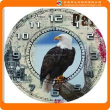 Bird picture print round antique wall clock