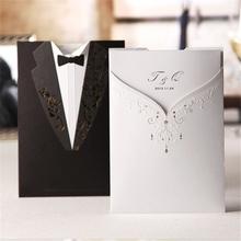 newest 2015 new design branded souvenir ecru wedding cards printing