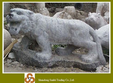 garden stone animal sculpture tiger carving